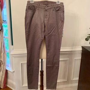 7 for All Mankind 29 Gray Silver Metallic New